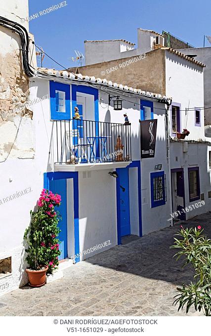 D'alt Vila, Oldtown, Ibiza, Balearic Island, Spain