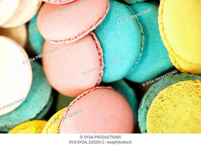 close up of macarons