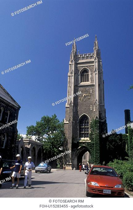 Toronto, Canada, Ontario, Bell Tower on the University of Toronto St. George Campus in downtown Toronto