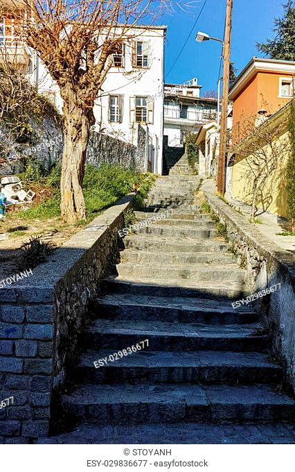 Stairs in old town of Xanthi, East Macedonia and Thrace, Greece