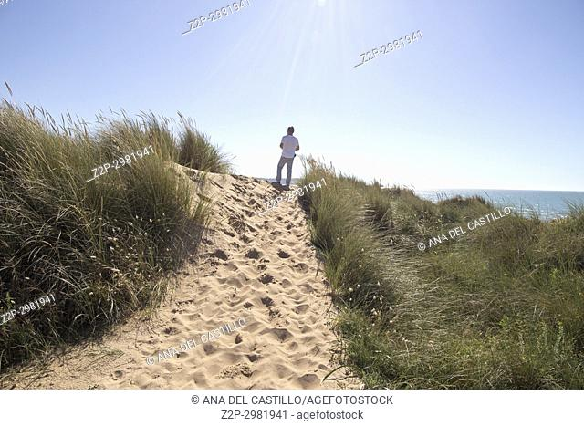 Liencres beach and dunes in Cantabria Spain