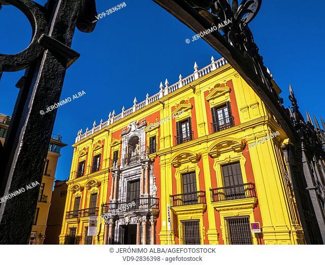 Palacio Episcopal, Bishop Palace. Costa del Sol, Malaga. Andalusia southern Spain. Europe