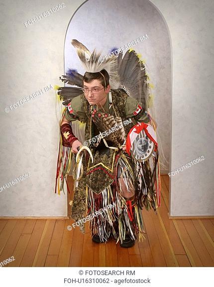 moose, teenage, costumes, powwow, boy, natural