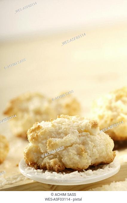 Coconut cookies, close-up