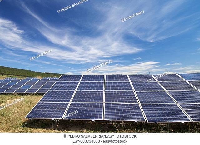 solar field, Cenicero, La Rioja, Spain