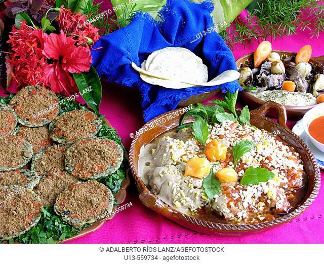 Typical food. Hacienda Blanca Flor, near Campeche. Mexico