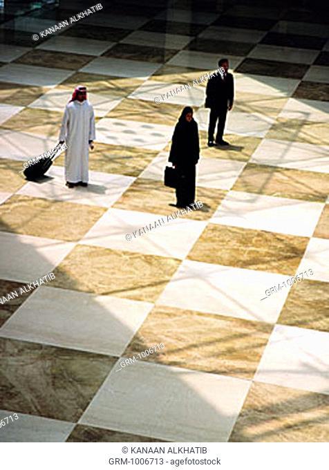 Arab business travelers