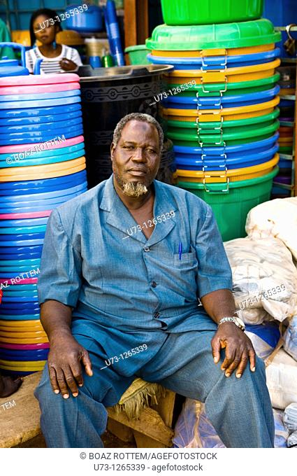 Colorful market scenes in west Africa