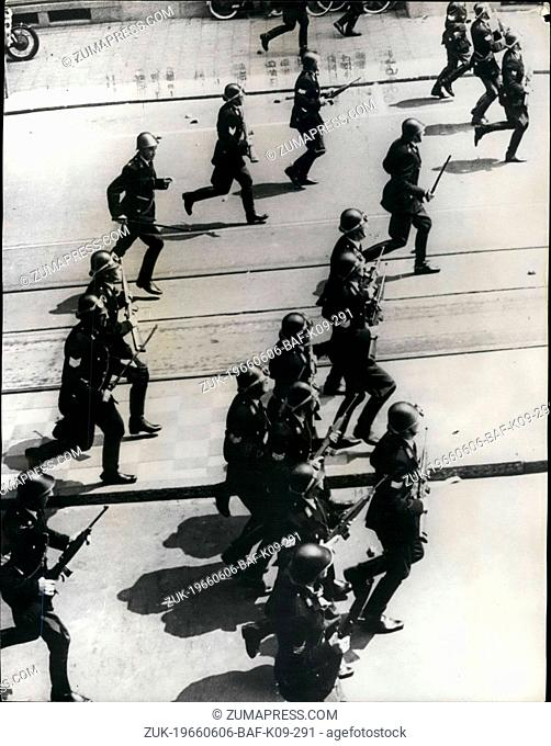 Jun. 06, 1966 - Police Fire Demonstrating Building Workers In Amsterdam: Police fired on building workers demonstrating near Royal Palace in Amsterdam today