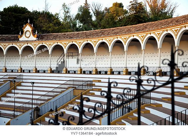 Coso and steps from the bullring de Antequera, Andalusia, Spain