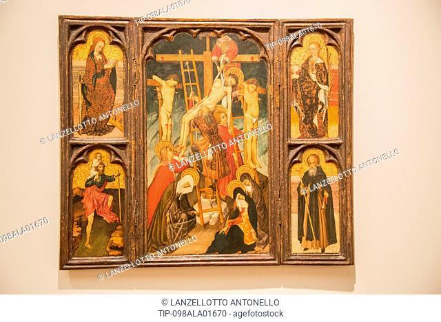 Europe, Portugal, Lisbon, Estrela, National Museum of Ancient Art, Bernardo Martorell, Triptych of the Descent from the Cross