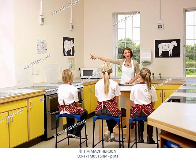 A Teacher with three children