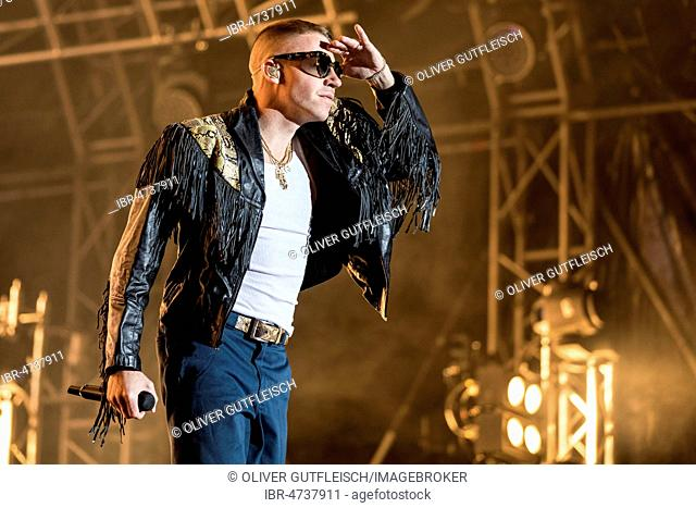 The American rapper Macklemore live at the 28th Heitere Open Air in Zofingen, Aargau, Switzerland