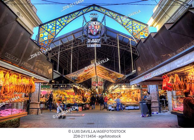 la boqueria market. barcelona