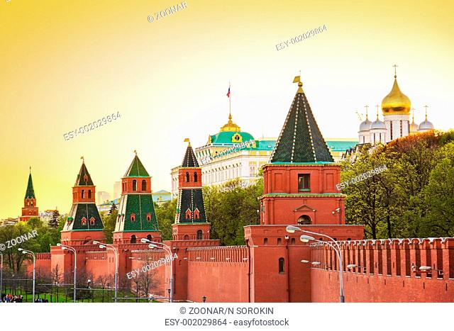 Kremlin in Moscow at sunset