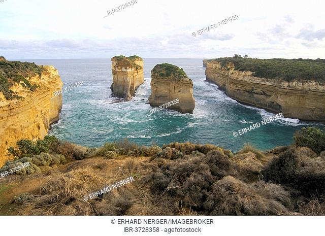 Loch Ard Gorge, viewed from the Great Ocean Road, Port Campbell National Park, Victoria, Australia