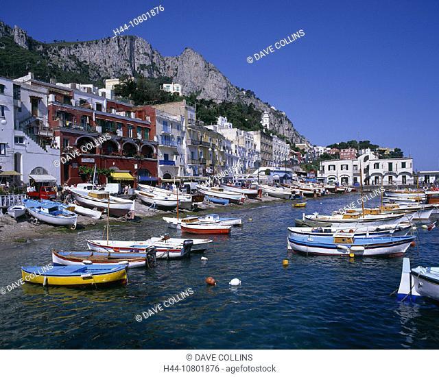 architecture, bay, Bay of Naples, Boat, boats, building, buildings, Capri, daytime, EU, European, fishing, Grande, h
