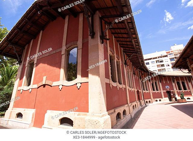 S'Escorxador, old slaughterhouse, now a cultural and shopping centre. Palma, Balearic Islands, Spain