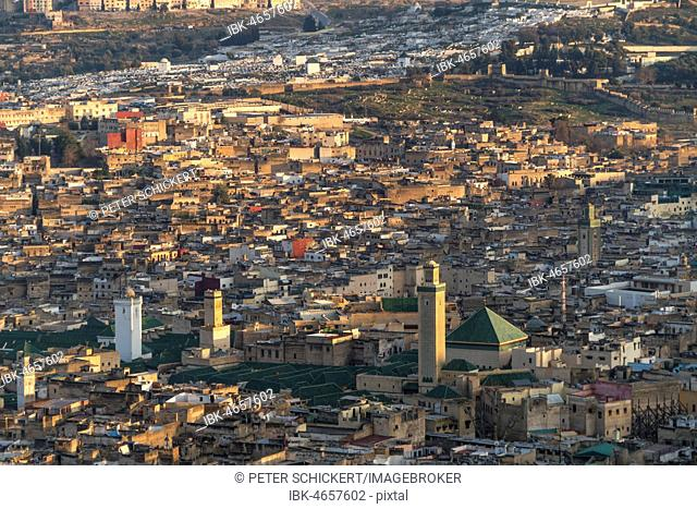 City view,Medina with Kairaouine Mosque, Fez, Morocco
