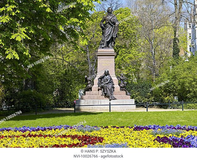 Felix Mendelssohn Monument in Leipzig, Saxony, Germany