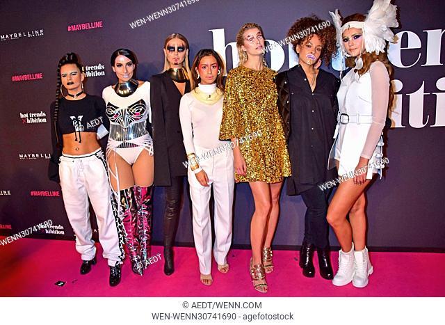 Maybelline New York Hot Trends Xhibition during Mercedes-Benz Fashion Week Autumn/Winter 2017 at Motorwerk. Featuring: Ivana Santacruz, Lamiya Slimani