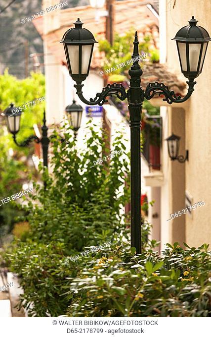 Greece, Central Greece Region, Delphi, streetlight