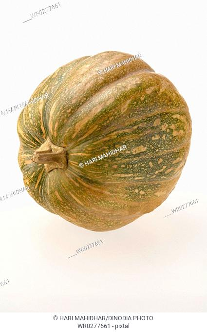 Vegetable , One Pumpkin Cucurbita moschata on white background