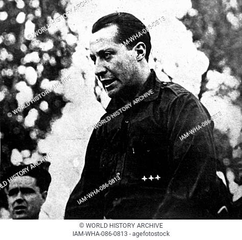 Photograph of Benito Mussolini (1883-1945) an Italian politician, dictator, and journalist. Dated 20th Century