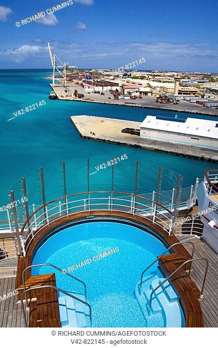Pool on Cruise Ship, Oranjestad Port, Aruba, Caribbean