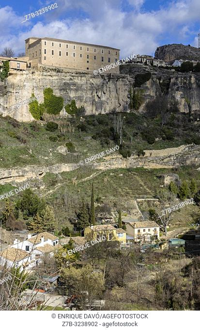 View of a Dominicos monastery close to Cuenca old town