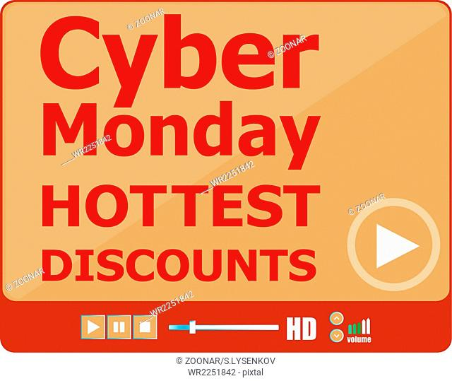 Cyber monday sale. Big sale banner. Sale and discounts. Vector illustration