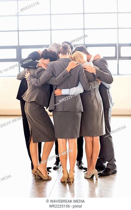 Business team huddling