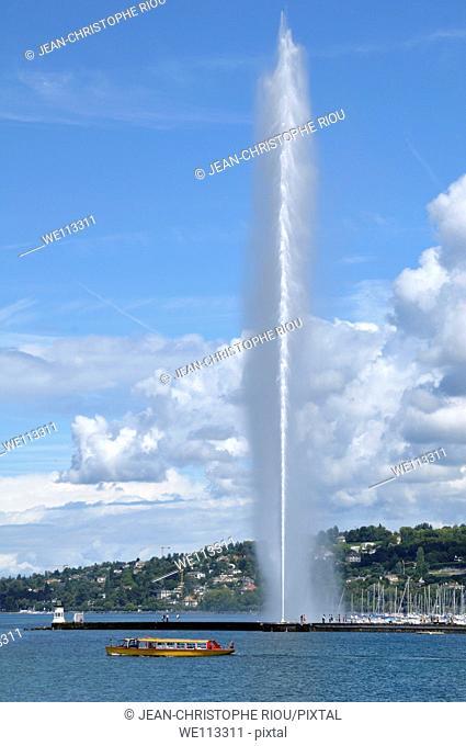 Jet d'Eau fountain, Geneva, Switzerland