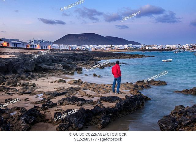 Spain, Canary Islands, La Graciosa. Caleta del Sebo village