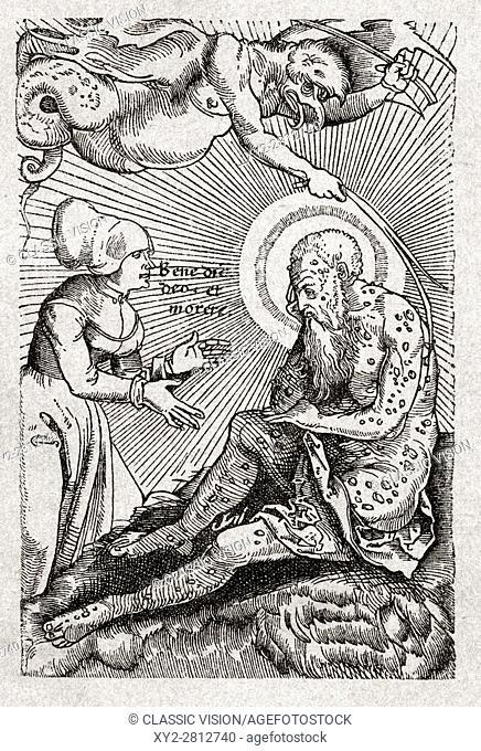 Leprosy. Illustration on front cover of book Spedalskhed published Denmark 1895