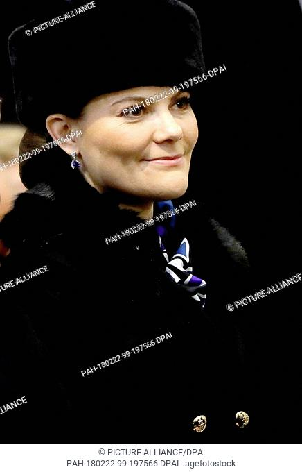 Crown Princess Victoria of Sweden at the Holy Mass at Vilnius Cathedral in Vilnius, on February 16, 2018, to attend Lithuania celebrates 100 years since WWI...