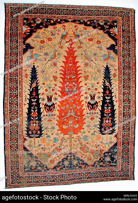 Carpet. Date: late 18th century; Geography: Attributed to Iran; Medium: Silk pile on silk and cotton foundation; Dimensions: 69 11/16 x 51 9/16in