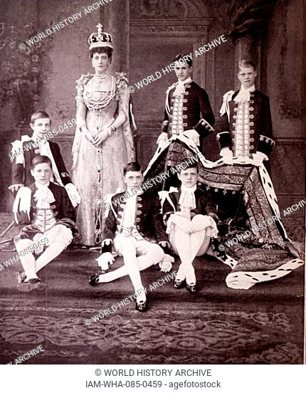 Photograph of Alexandra of Denmark (1844-1925) on her coronation day. Dated 20th Century