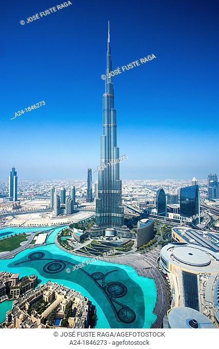United Arab Emirates UAE , Dubai City ,Down Town Dubai , Burj Khalifa Bldg