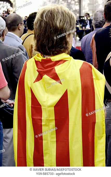 September 11th, Catalan National Holiday. Barcelona, Catalonia
