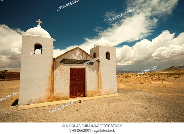 Colonial church next to the route 52, La Poma department, Province of Salta, Argentina