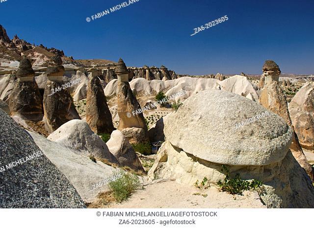 Fairy Chimneys in Pasabagi. Çavusin, Cappadocia, Central Anatolia, Turkey