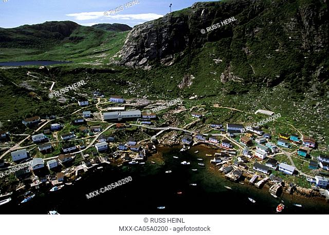 Aerial view of Francous, Newfoundland