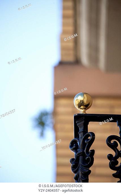 Golden Ball in balcony