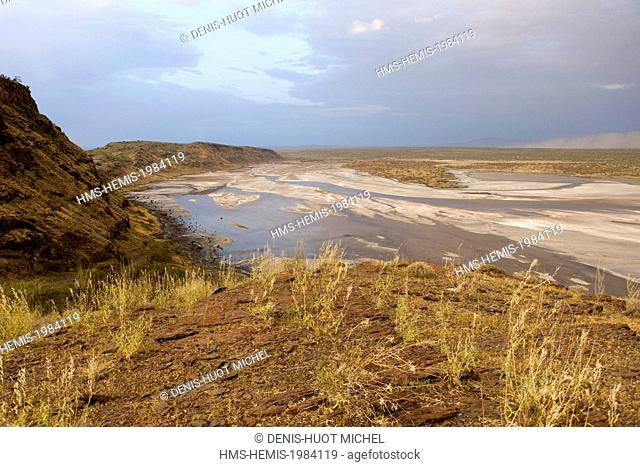Kenya, lake Magadi, Rift valley, at sunset