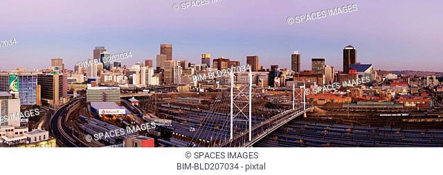 Johannesburg Skyline and Railway Station