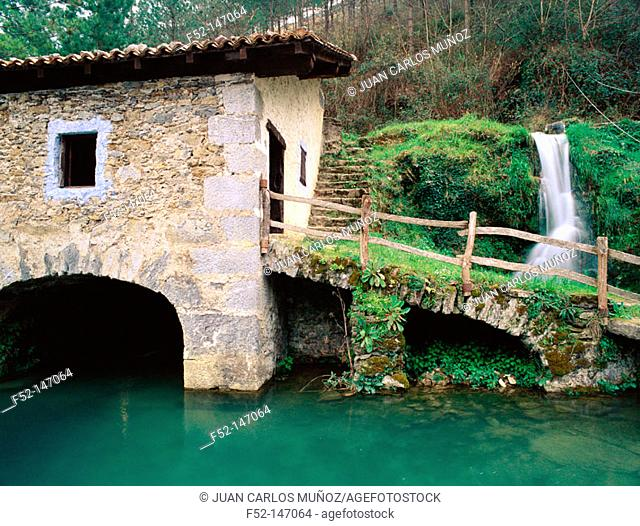 Water mill in Lastur. Guipuzcoa. Eskadi, Spain