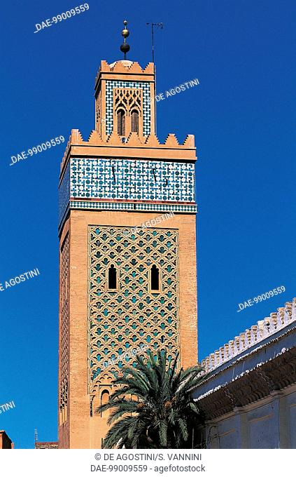 Minaret (12th century), Koutoubia Mosque or Kutubiyya Mosque, Marrakech medina (Unesco World Heritage List, 1985), Marrakech-Tensift-El Haouz, Morocco