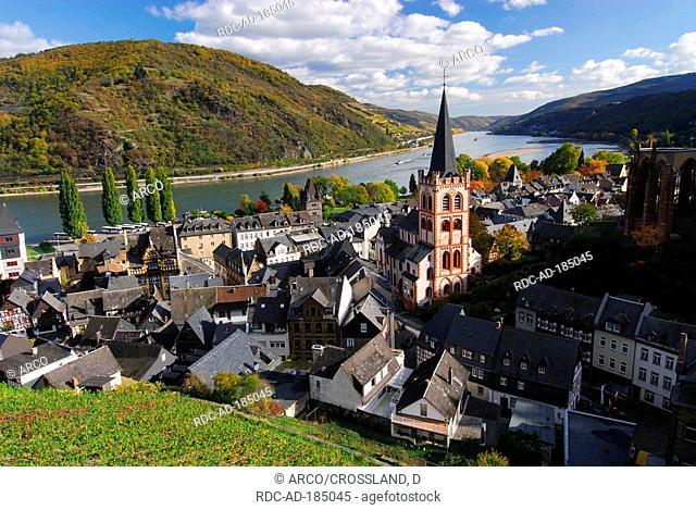 Bacharach, river Rhine, Rhineland-Palatinate, Germany