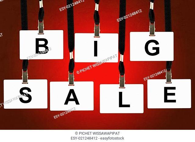 big sale word